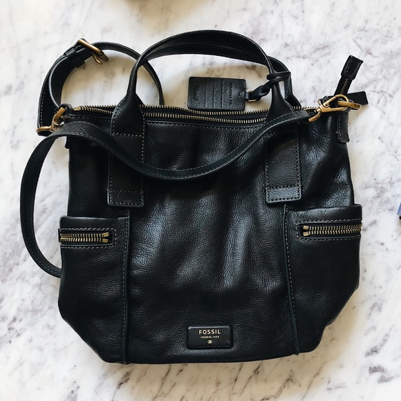 Fossil Handbags - Fossil Emerson Black + antique gold